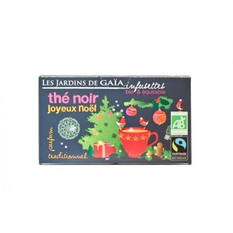 Thé Noir Joyeux Noel, Infusettes Bio 32g-Les Jardins de Gaia
