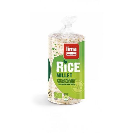 Galettes de Riz au Millet 100g-Lima