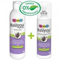 Pediakid Balépou Shampoing et Spray - 200ml + 100ml - Laboratoire Ineldea