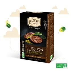 Biscuits Tentation Thé Vert Matcha 130g - Le Moulin du Pivert