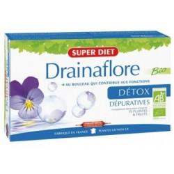 Drainaflore Bio Détox - 20 Ampoules de 15ml - SuperDiet