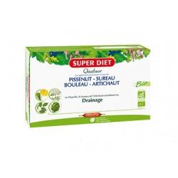 Quatuor Bio Pissenlit / Sureau / Bouleau / Artichaut - 20 Ampoules de 15ml - SuperDiet