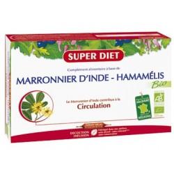 Marronier d'Inde / Hamamélis Bio - 20 Ampoules de 15ml - SuperDiet
