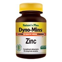 Zinc Dyno-Mins - 60 Comprimés - Nature's Plus