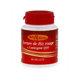 Levure de Riz Rouge + Coezyme Q10 - 60 Gélules - Nat & Form