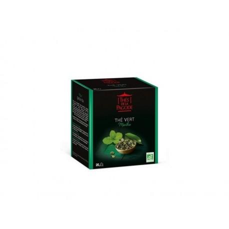 Thé Vert à la Menthe - Thés de la Pagode - 20 Sachets