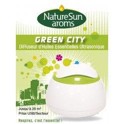 Green City Diffuseur d'Huiles Essentielles Ultrasonique - NaturSun'Aroms
