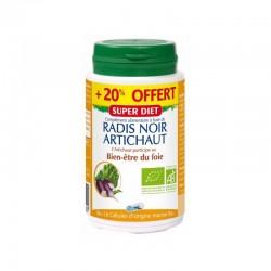 Radis Noir / Artichaut Bio - 108 Gélules - SuperDiet