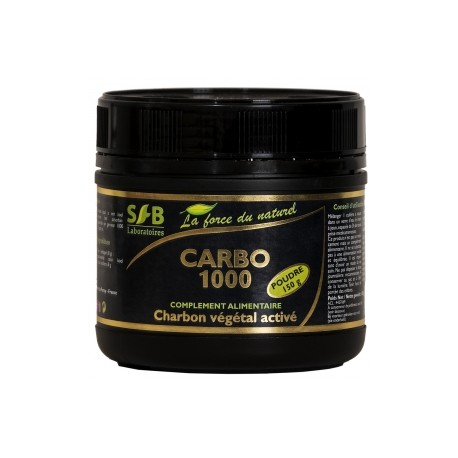 carbo 1000 charbon v g tal activ 150g poudre laboratoires sfb. Black Bedroom Furniture Sets. Home Design Ideas