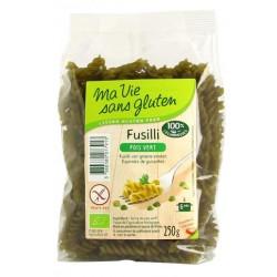Fusilli au pois vert Sans Gluten 250g-Ma Vie Sans Gluten
