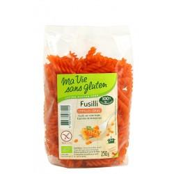Fusilli lentilles corail Sans Gluten 250g-Ma Vie Sans Gluten