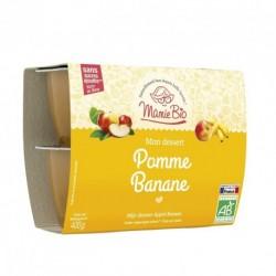 Purée de Pomme et de Banane Bio - 4x100g - Mamie Bio