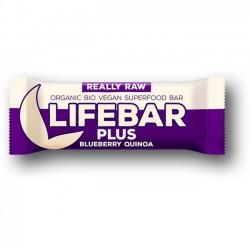 Lifebar Plus Myrtilles Quinoa - Barre Énergétique - 47g - Lifefood