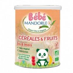 Céréales et Fruits Bio - 400g - Bébé Mandorle