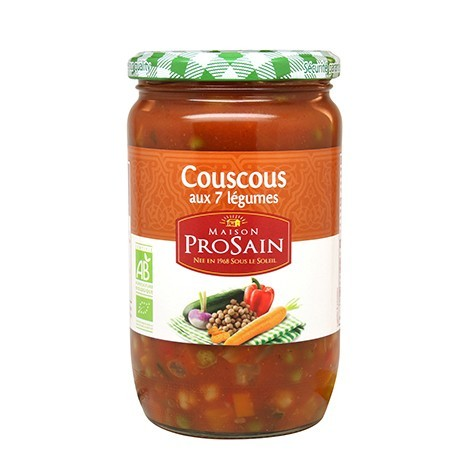 Couscous aux 7 Légumes (+20% Gratuit) 816g -Maison ProSain