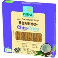 Barre Superfood Sésame-Chia-Coco - 3x25gr - Pural