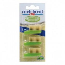 Recharge Brosse à dents Sensitive Natural - 3 têtes - Monte-Bianco