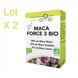 2x Maca Force 3 Bio - 60 Gélules - Diet Horizon