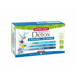 Protocole Detox Bio - 30 Ampoules de 15ml - SuperDiet