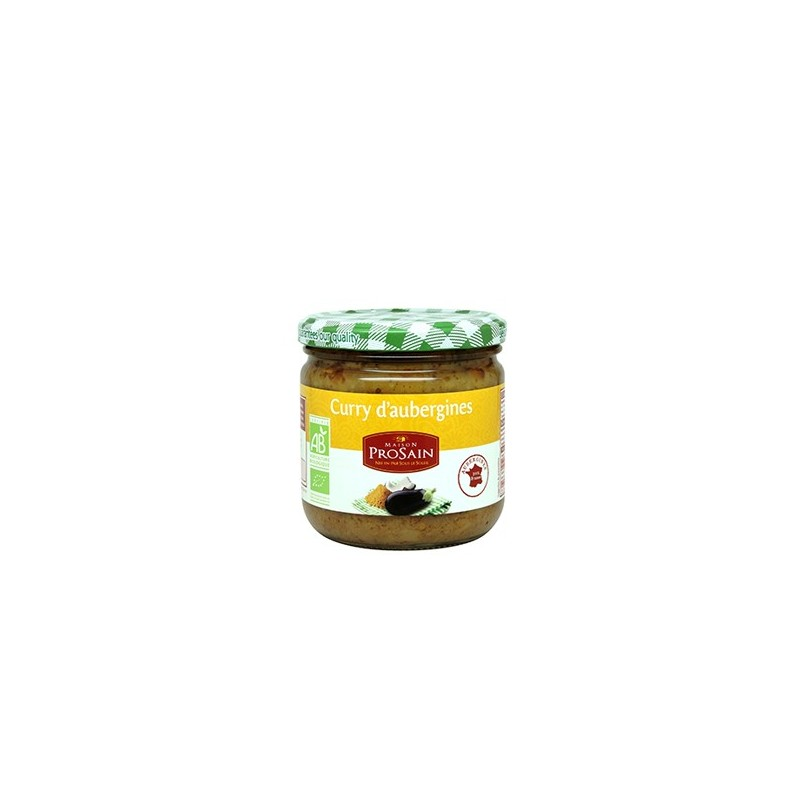 Curry d 39 aubergines bio maison prosain 345g for Aubergines en conserve maison