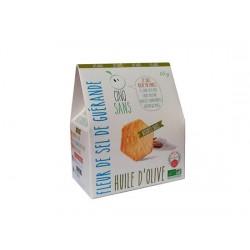 Biscuit Salé Huile d'Olive et Sel de Guérande - 65gr - Cinq Sans