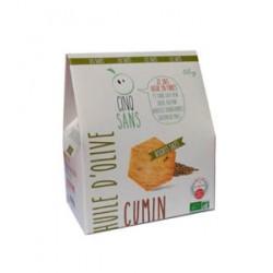 Biscuit Salé Huile d'Olive et Cumin - 65gr - Cinq Sans