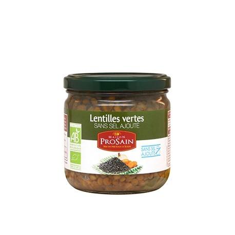 Lentilles Verts Sans Sel Ajouté 345g -Maison ProSain