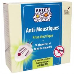 Anti Moustique Prise Electrique - 10 Plaquettes et 10ml de Concentré - Aries