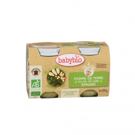 Pomme de Terre Haricot Verts de Vendée - 2 x 130g - Babybio