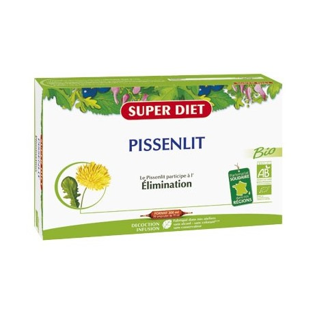 Pissenlit Bio - Elimination - 20 Ampoules - SuperDiet