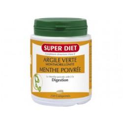 Argile Verte Montmorillonite Menthe Poivré- Digestion - Comprimés - SuperDiet