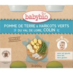 Carotte, Courge Butternut, Poulet Fermier du Poitou, Riz - 2x200g - Babybio