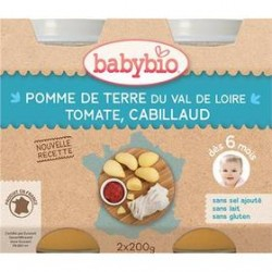 Pomme de Terre, Haricot Verts de Vendée et Colin - 2x200g - Babybio