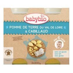 Petit Pois, Pomme de Terre du Val de Loire, Cabillaud - 2x200g - Babybio
