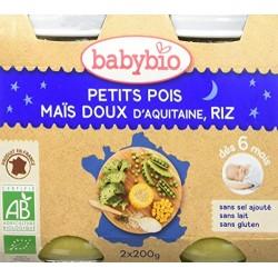 Petit Pois, Maïs Doux d'Aquitaine, Riz- 2x200g - Babybio