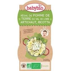 Régal de Pomme de Terre du Val de Loire, Artichaut et Ricotta - 2x200gr - Babybio