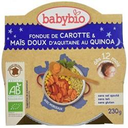 Fondue de Carotte, Maïs Doux d'Aquitaine et Quinoa - 230gr - Babybio