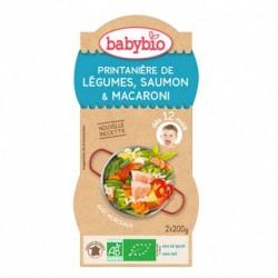 Printanière de Légumes, Saumon, Macaroni - 2x200gr - Babybio