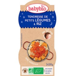 Tendresse de Petits Légumes, Riz - 2x200gr - Babybio