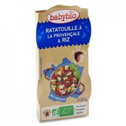 Ratatouille à la Provençale, riz - 2x200gr - Babybio