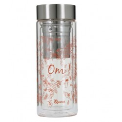 "Théière Nomade Isotherme ""Om!"" Orange - 320ml - Qwetch"