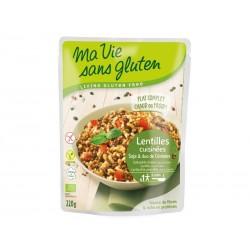Lentilles Cuisinées Soja & Duo de Céréales - 220gr - Ma Vie Sans Gluten