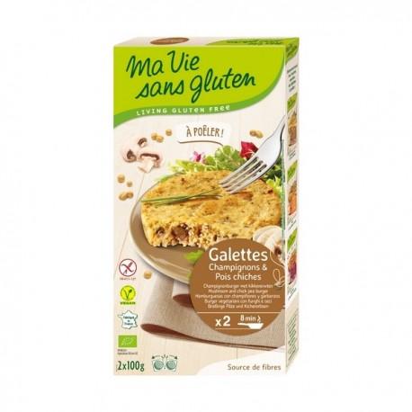 Galettes Bio Champignons et Pois Chiches 200g-Ma Vie Sans Gluten