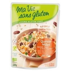 Quinoa-Millet Haricots Rouges & Petits Légumes - 220gr - Ma Vie Sans Gluten