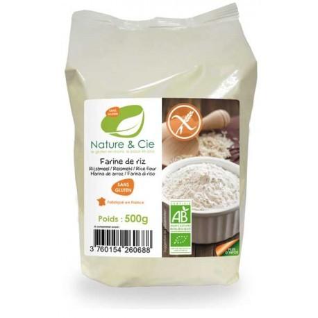 Farine de Riz Sans Gluten 500g-Nature & Cie