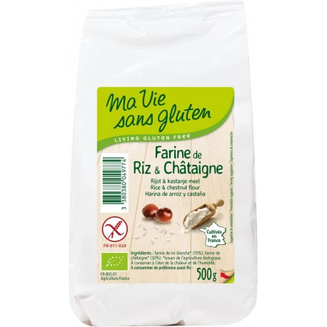 Farine Bio de Riz et Châtaigne 500g-Ma Vie Sans Gluten