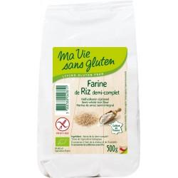 Farine de Riz Demi-Complet Bio - 500gr - Ma Vie Sans Gluten