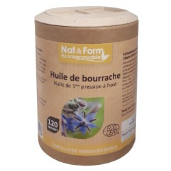 Huiles de Bourrache - 120 Capsules - Nat & Form