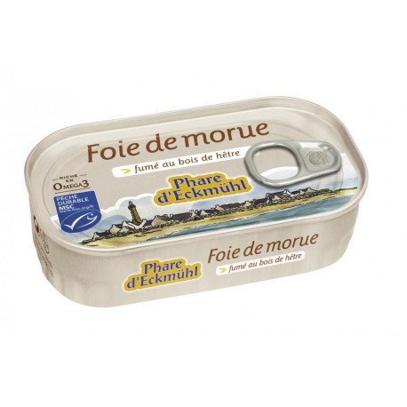 Foie de Morue 121g -Phare d'Eckmühl