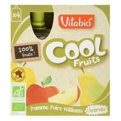 Cool Fruits Pomme Poire + Acérola - 4x90gr - Vitabio